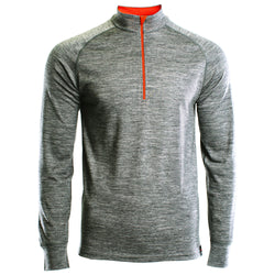 Mens Merino 200 Long Sleeve Zip Neck (Charcoal)