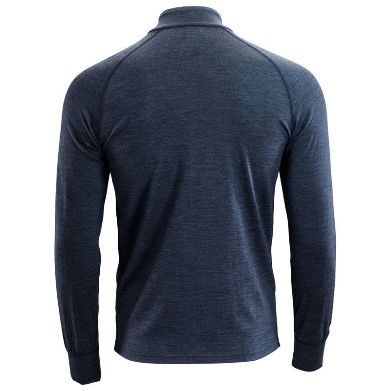 Mens Merino 200 Long Sleeve Zip Neck (Denim)