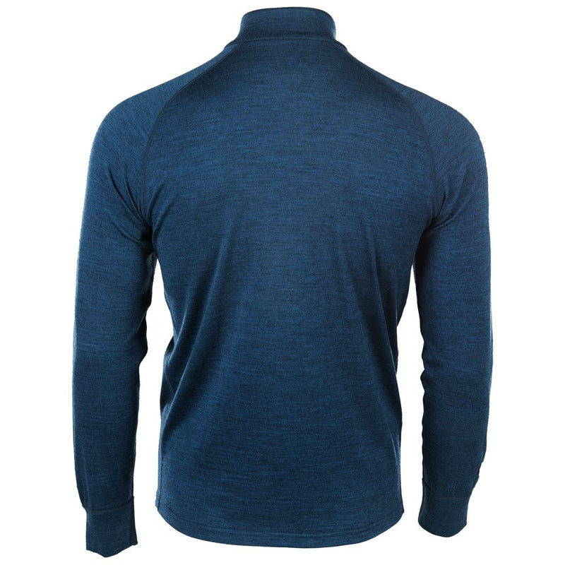 Mens Merino 200 Long Sleeve Zip Neck (Petrol)