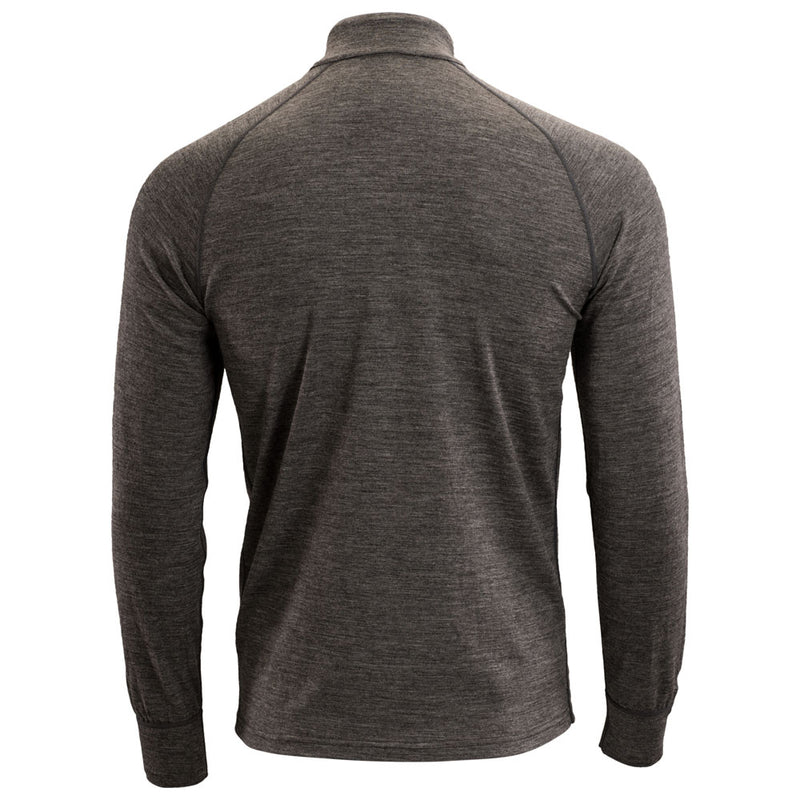 Mens Merino 200 Long Sleeve Zip Neck (Smoke)
