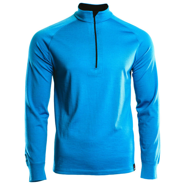 Mens Merino 200 Long Sleeve Zip Neck (Turquoise)