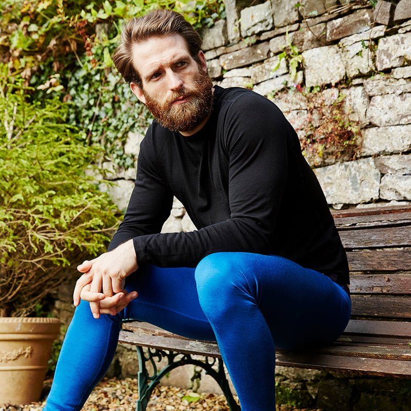 Mens Merino 200 Tights (Blue)