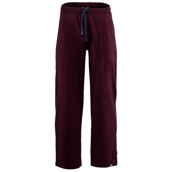 Mens Merino 260 Lounge Loose Joggers (Wine/Navy)