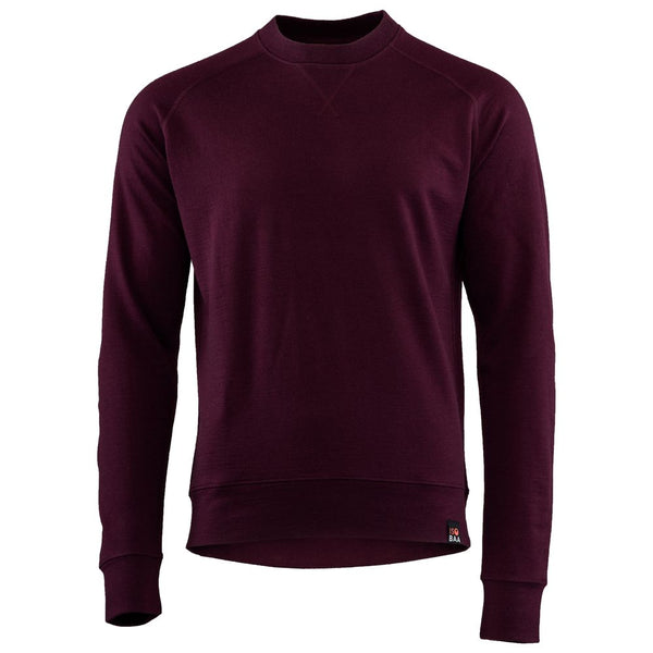 Mens Merino 260 Lounge Sweatshirt (Wine)