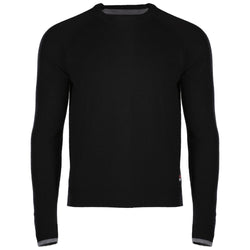 Mens Merino Crew Sweater (Black/Charcoal)
