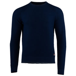 Mens Merino Moss Stitch Sweater (Navy/Denim)