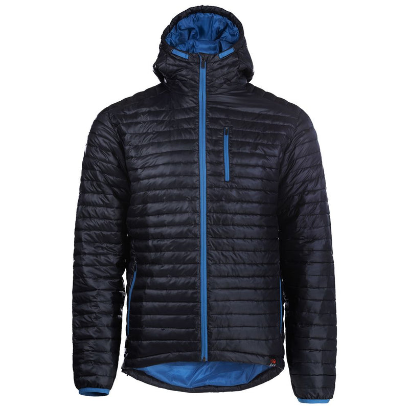 Mens Merino Wool Insulated Jacket (Black/Blue)