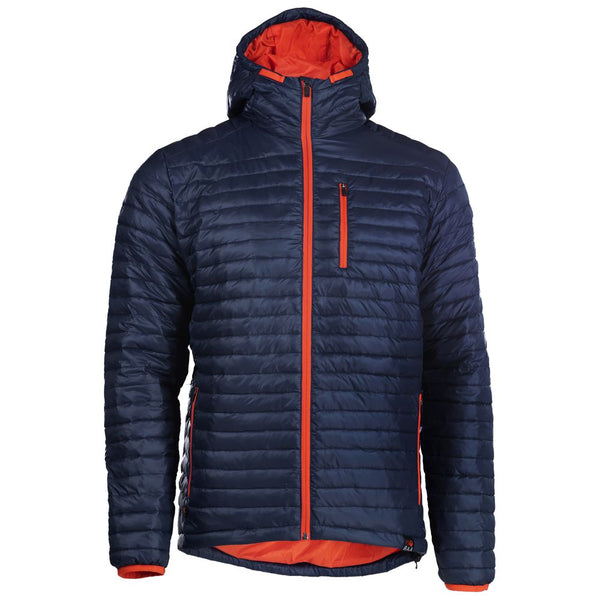 PRE-ORDER - Mens Merino Wool Insulated Jacket (Navy/Orange)