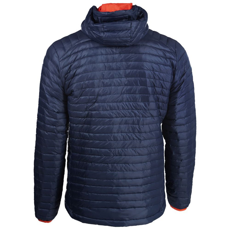 Mens Merino Wool Insulated Jacket (Navy/Orange)