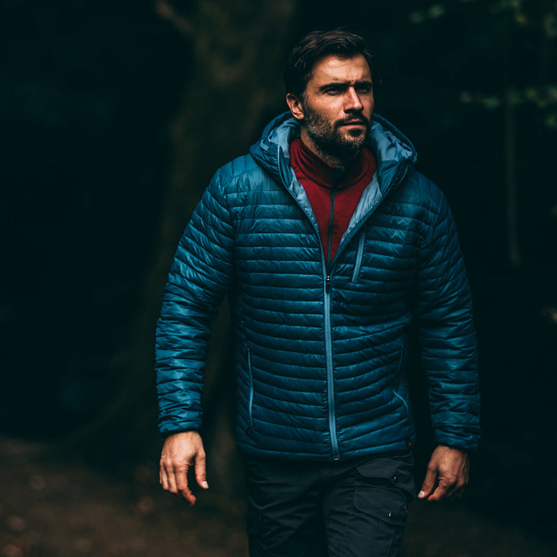 Mens Merino Wool Insulated Jacket (Petrol/Sky)