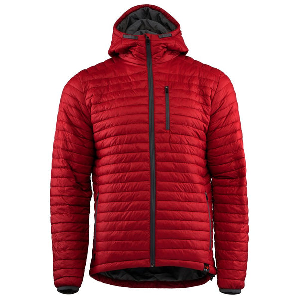Mens Merino Wool Insulated Jacket (Red/Smoke)