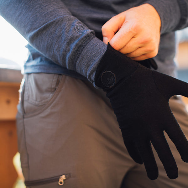 Merino 180 Gloves (Black)