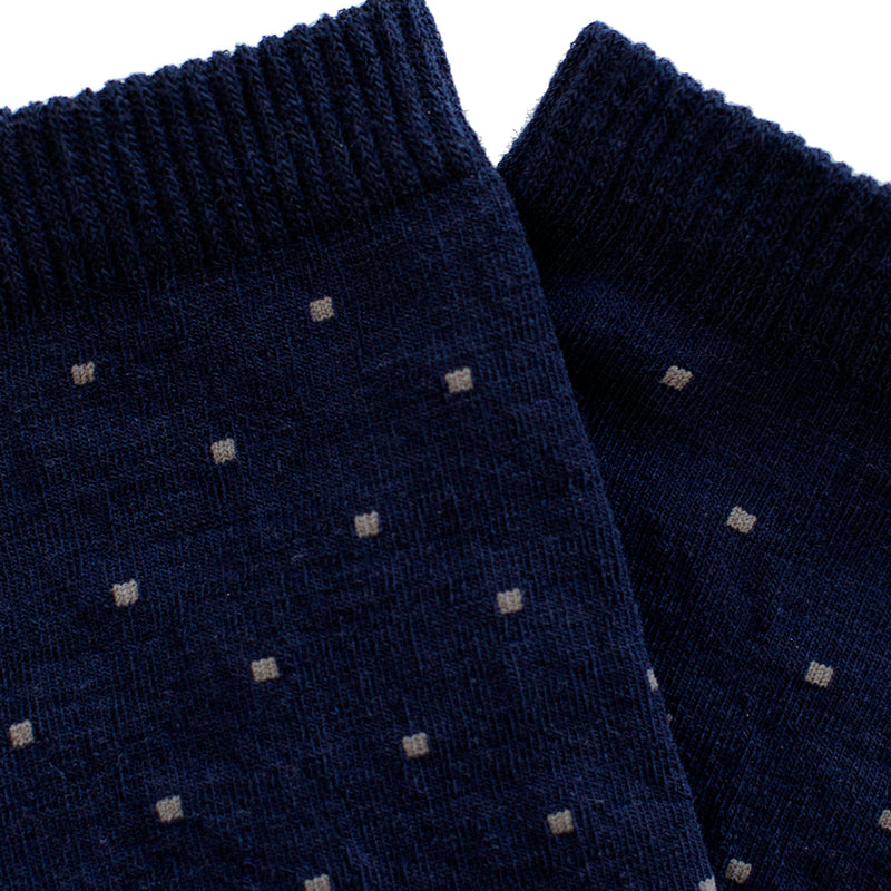 Merino Blend Everyday Socks (Dot Navy/Charcoal)