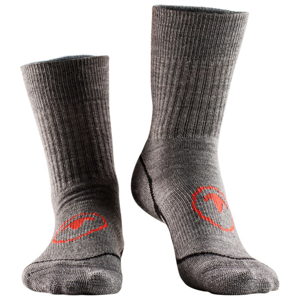 Merino Blend Hiking Socks (3 Pack - Charcoal/Black)