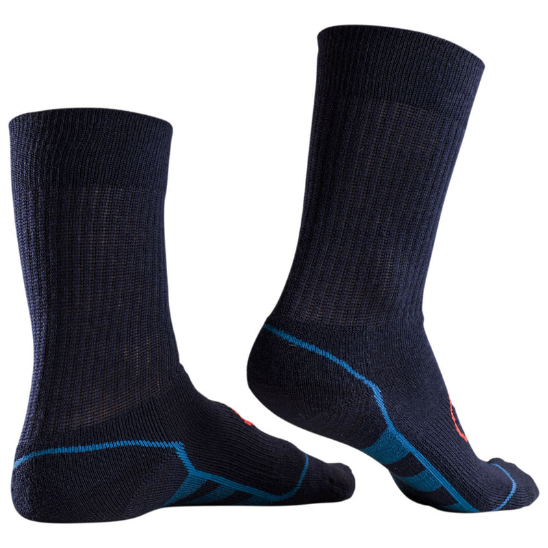 Merino Blend Hiking Socks (3 Pack - Navy/Blue)