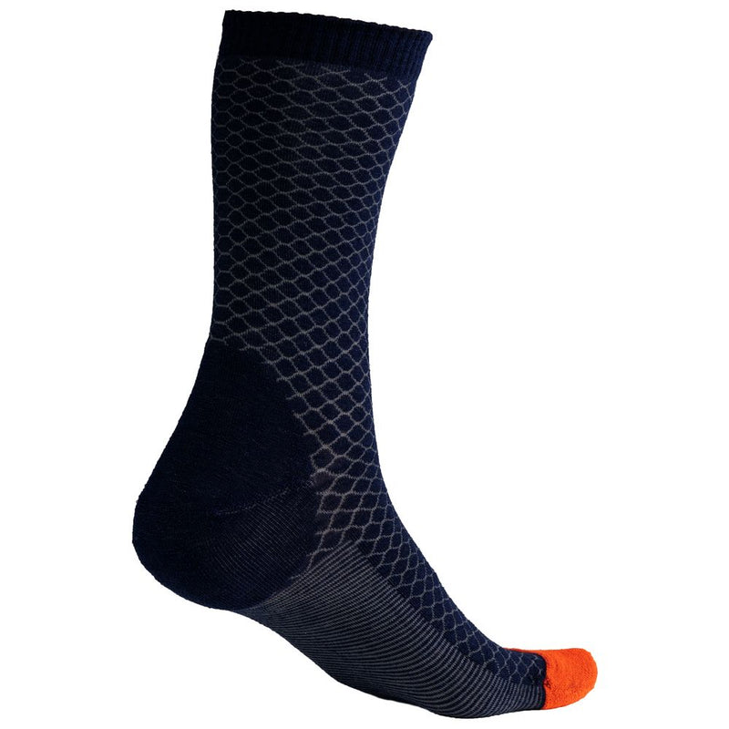 Merino Blend Everyday Socks (Lattice Navy/Charcoal)