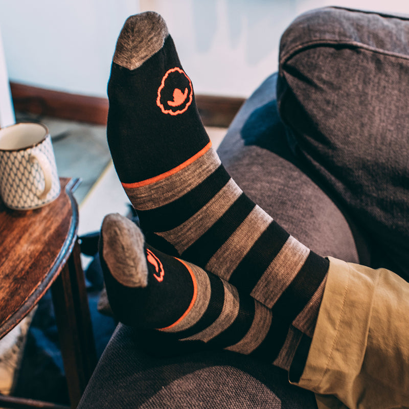 Merino Blend Everyday Socks (3 Pack - Black/Charcoal)