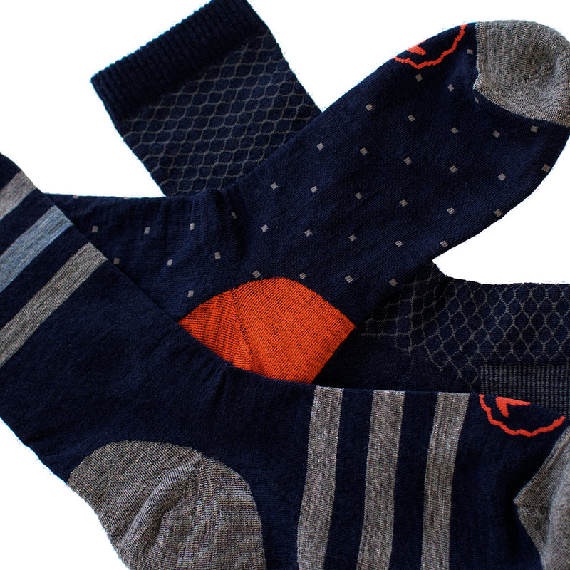 Merino Blend Everyday Socks (3 Pack - Navy/Charcoal)