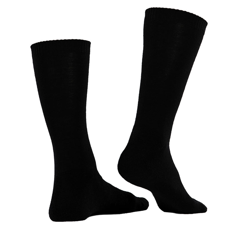 Merino Blend Everyday Socks (3 Pack - Black)