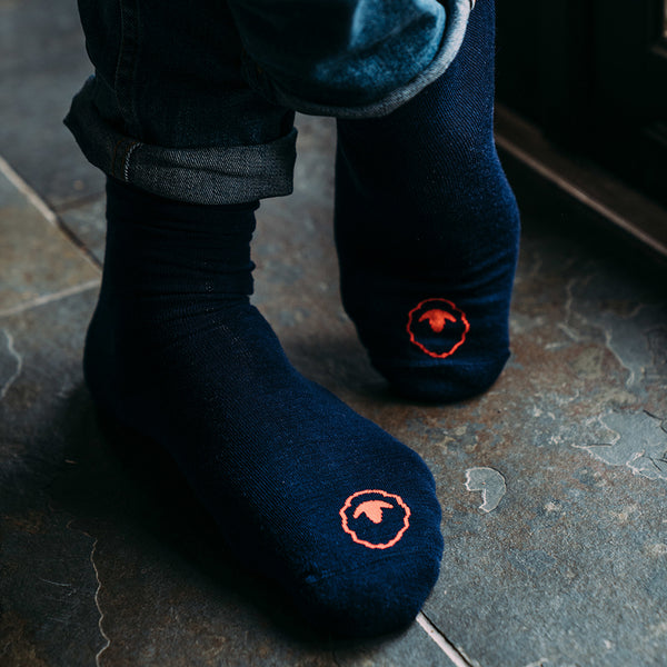 Merino Blend Everyday Socks (3 Pack - Navy)