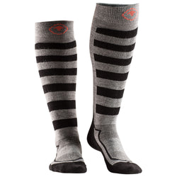 Merino Blend Ski Socks (Charcoal/Black)