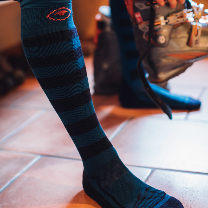 Merino Blend Ski Socks (Navy/Blue)
