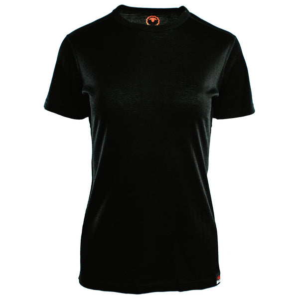 Womens Merino 150 Short Sleeve Crew (Black)