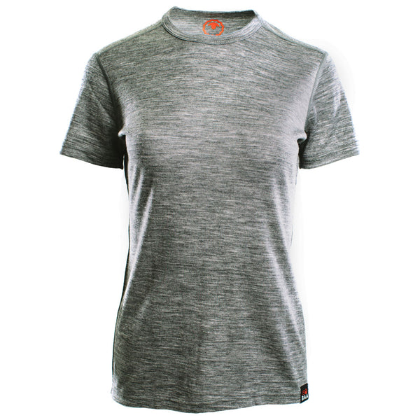 Womens Merino 150 Short Sleeve Crew (Charcoal)