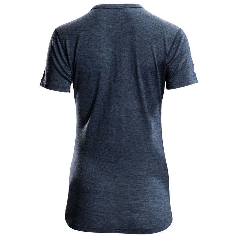 Womens Merino 150 Short Sleeve Crew (Denim)