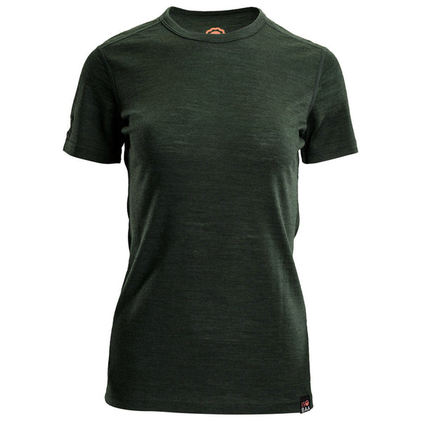 Womens Merino 150 Short Sleeve Crew (Forest)