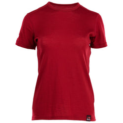 Womens Merino 150 Short Sleeve Crew (Red)