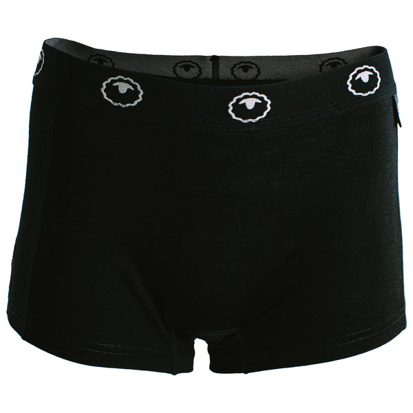 Womens Merino 180 Hipster Shorts (Black)