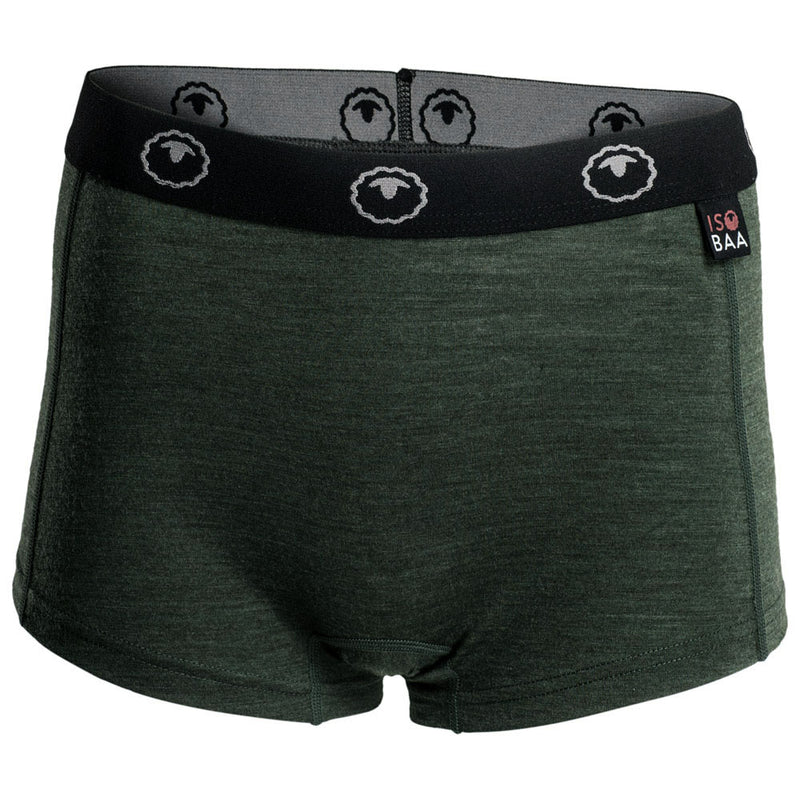 Womens Merino 180 Hipster Shorts (Forest)