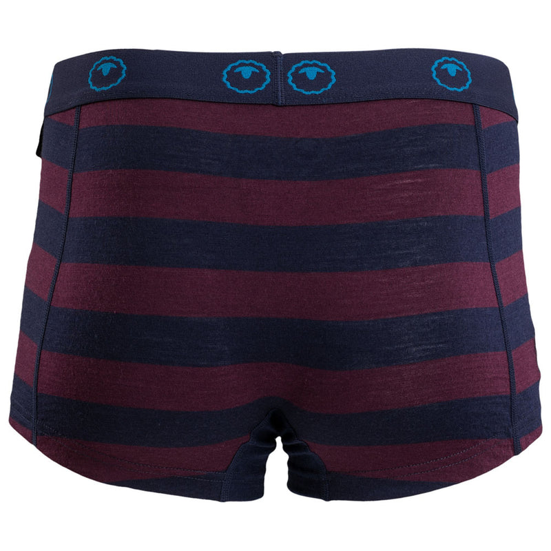 Womens Merino 180 Hipster Shorts (Navy/Wine)