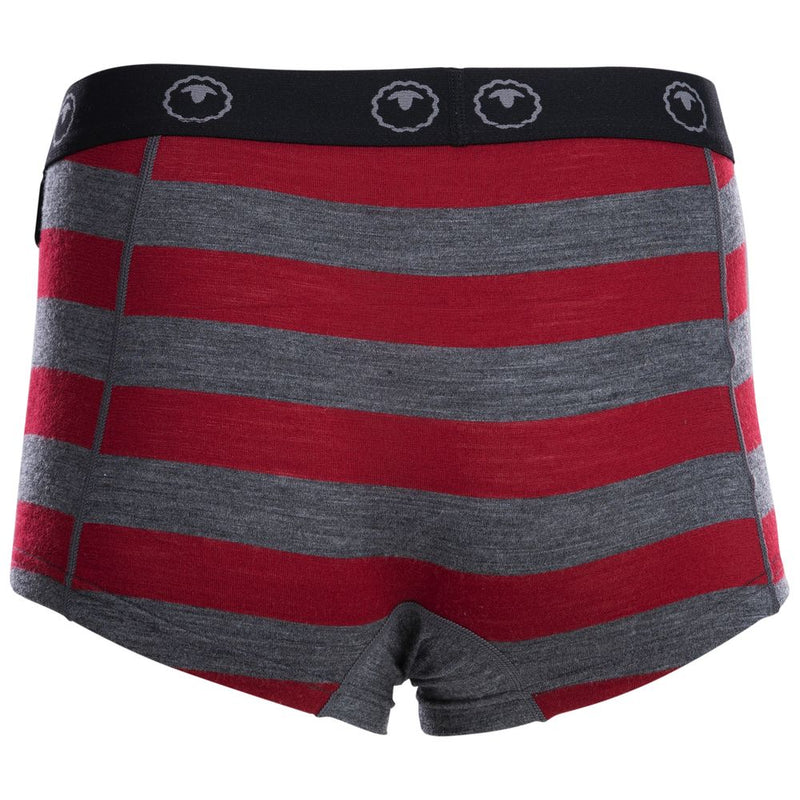Womens Merino 180 Hipster Shorts (Smoke/Red)