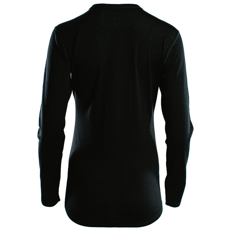 Womens Merino 180 Long Sleeve Crew (Black)