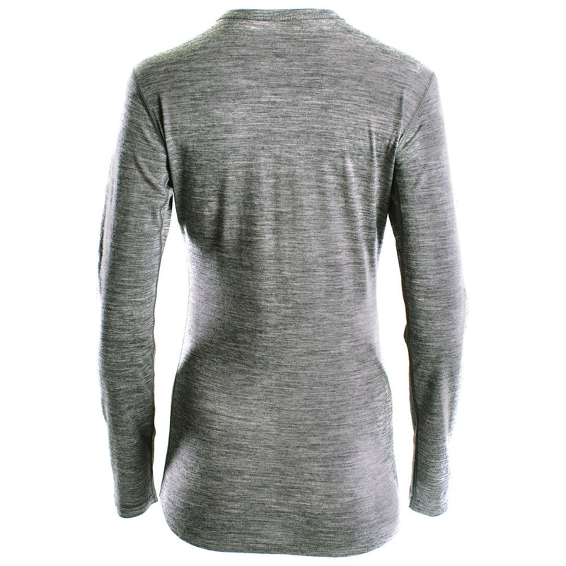 Womens Merino 180 Long Sleeve Crew (Charcoal)