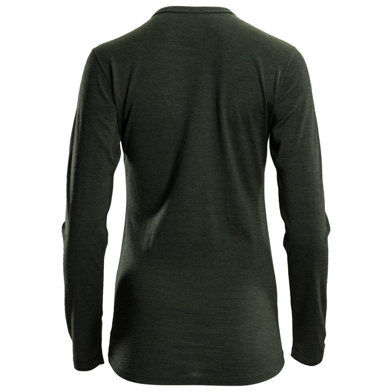 Womens Merino 180 Long Sleeve Crew (Forest)