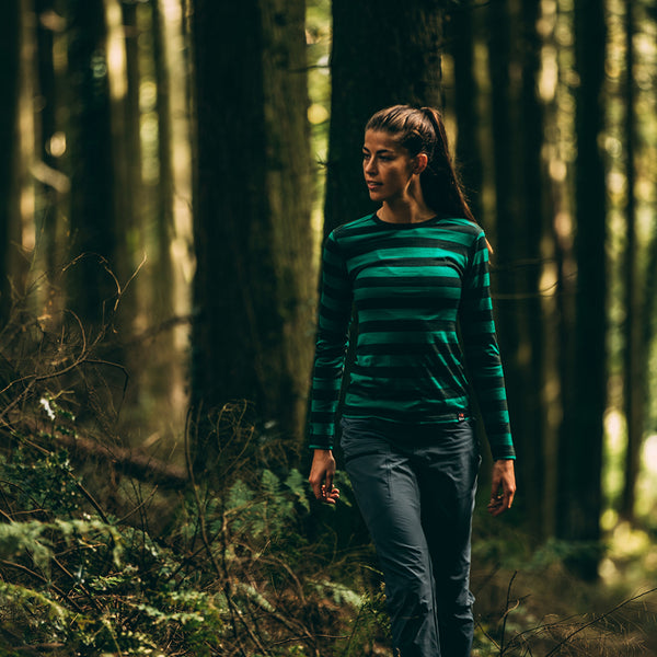 Womens Merino 180 Long Sleeve Crew (Forest/Green)