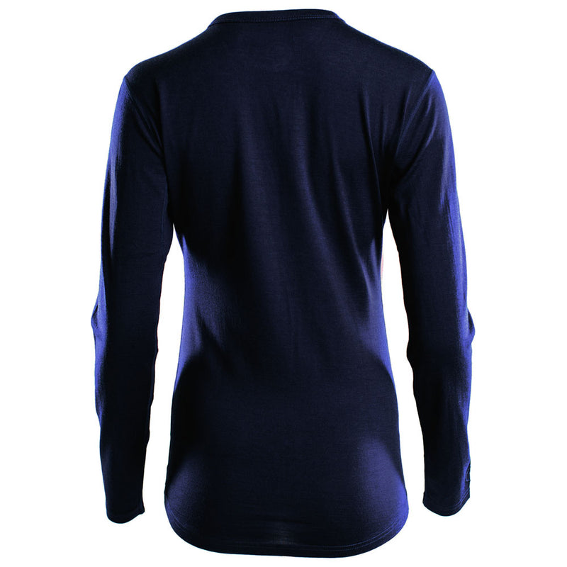 Womens Merino 180 Long Sleeve Crew (Navy)