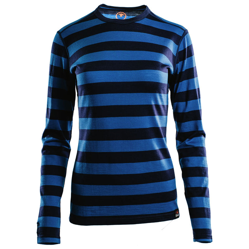 Womens Merino 180 Long Sleeve Crew (Navy/Blue)