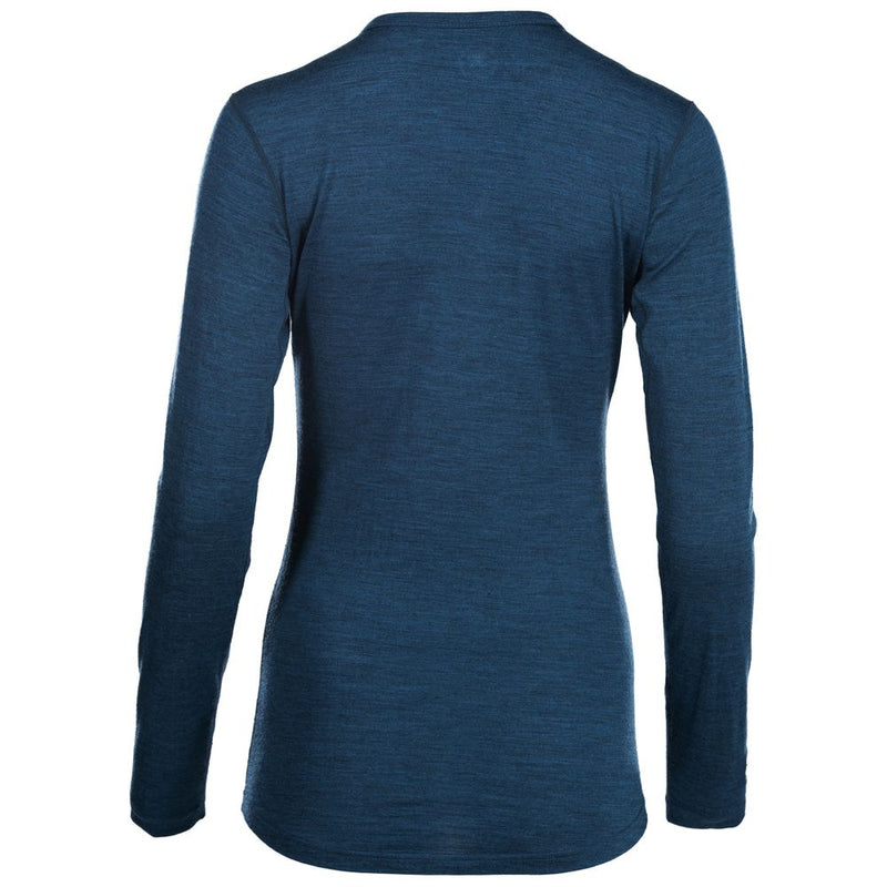 Womens Merino 180 Long Sleeve Crew (Petrol)