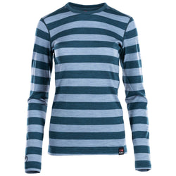 Womens Merino 180 Long Sleeve Crew (Petrol/Sky)