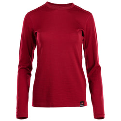 Womens Merino 180 Long Sleeve Crew (Red)