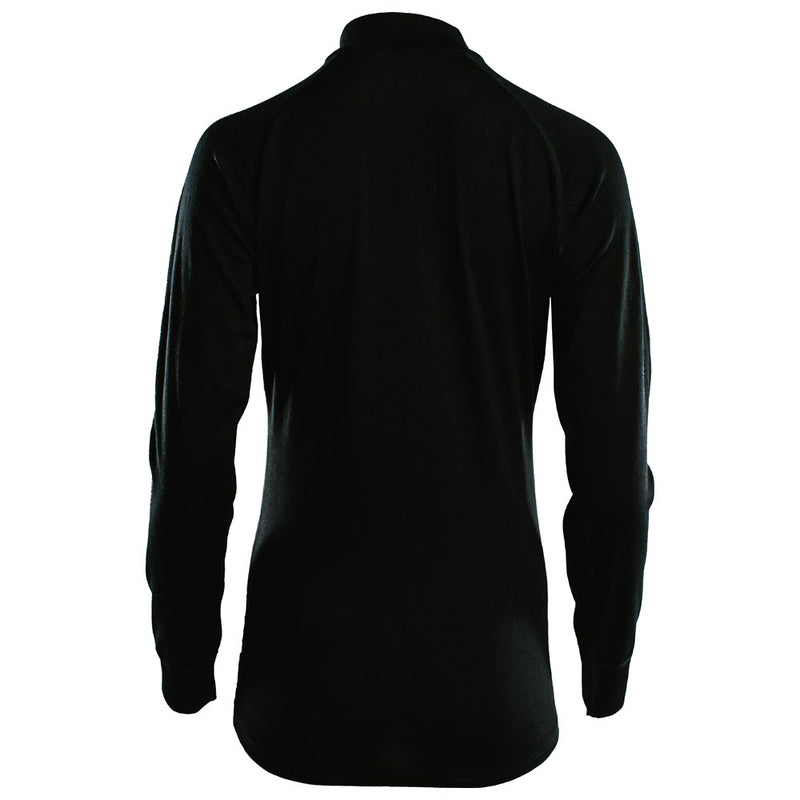Womens Merino 200 Long Sleeve Zip Neck (Black)