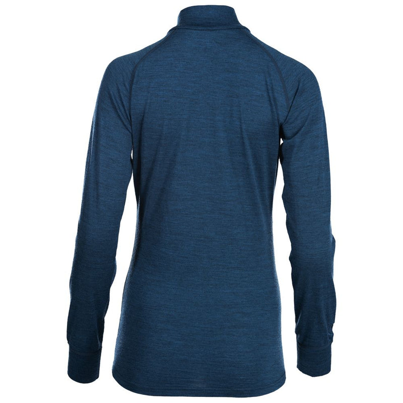 Womens Merino 200 Long Sleeve Zip Neck (Petrol)