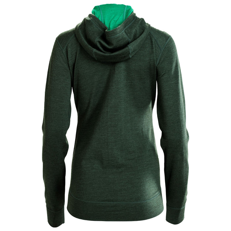 Womens Merino 260 Casual Hoodie (Forest)