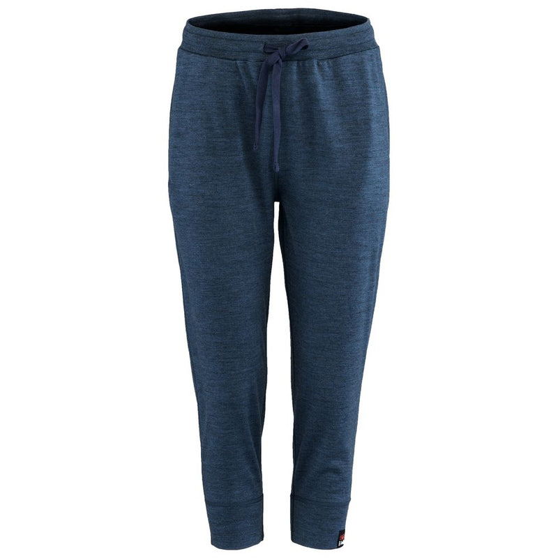 Womens Merino 260 Lounge Cuffed 3/4 Joggers (Denim/Navy)