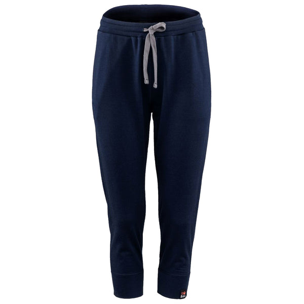 Womens Merino 260 Lounge Cuffed 3/4 Joggers (Navy/Smoke)