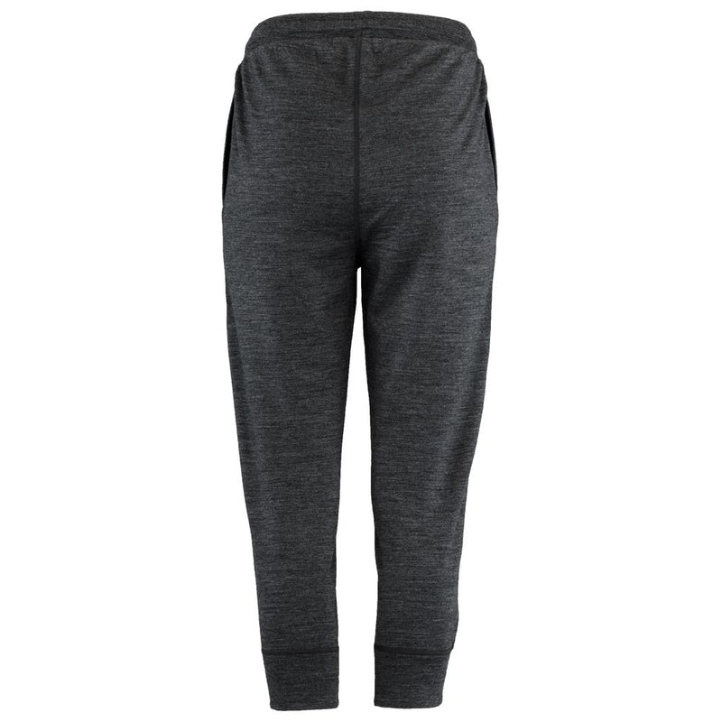 Womens Merino 260 Lounge Cuffed 3/4 Joggers (Smoke/Black)